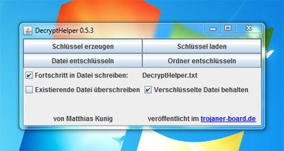 DecryptHelper hilft bei verschlüsselten Dateien