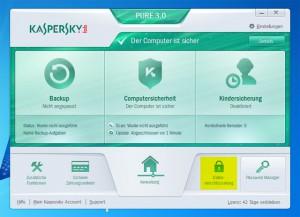 Kaspersky Benutzeroberfläche