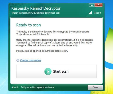 Kaspersky RannohDecryptor