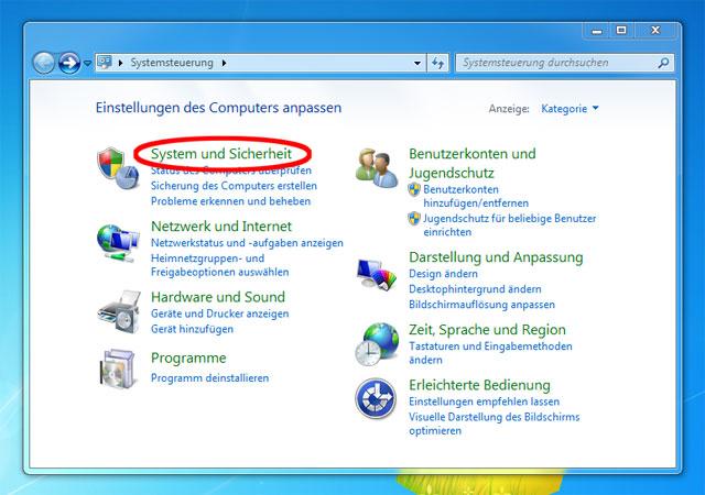 Status-Überprüfung der Windows Firewall