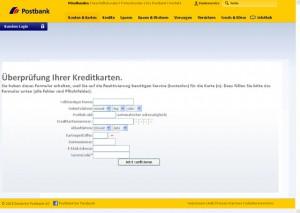 Phishing mit gefälschter Postbank Seite